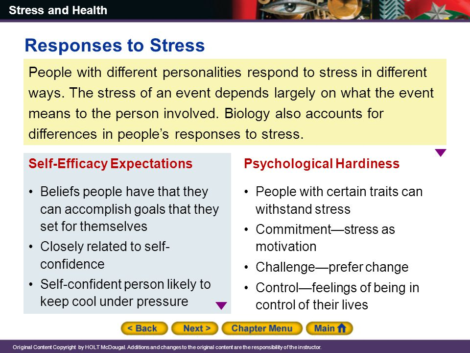 Responses to Stress