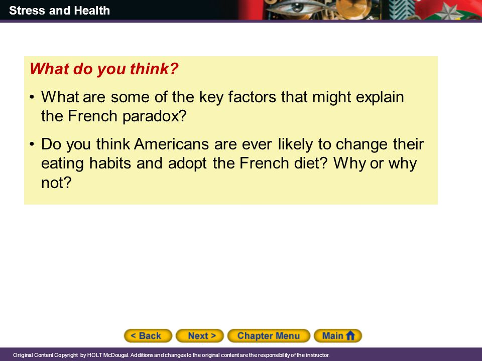 What do you think What are some of the key factors that might explain the French paradox