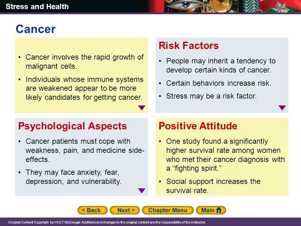 Cancer Risk Factors Psychological Aspects Positive Attitude