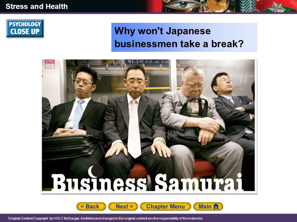 Why won t Japanese businessmen take a break
