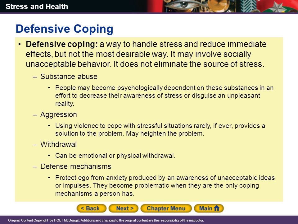Defensive Coping