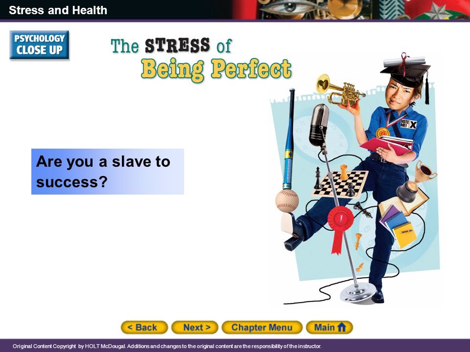 Are you a slave to success