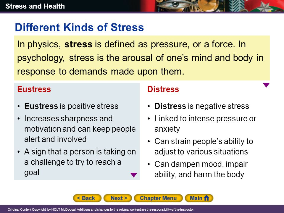 Different Kinds of Stress