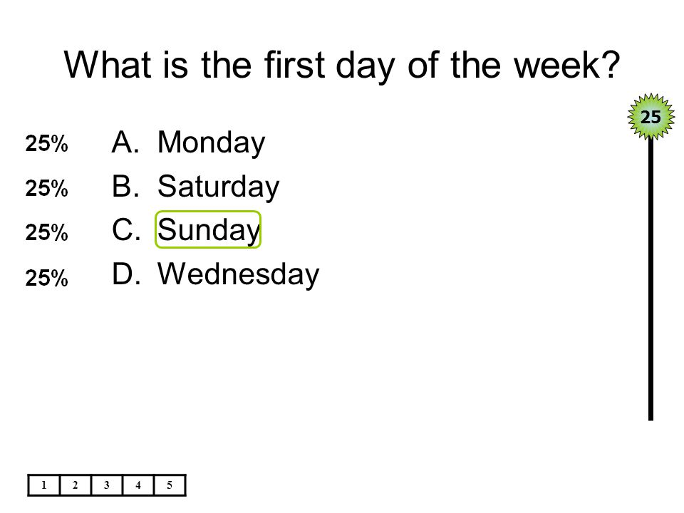 What is the first day of the week