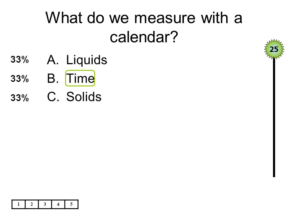 What do we measure with a calendar