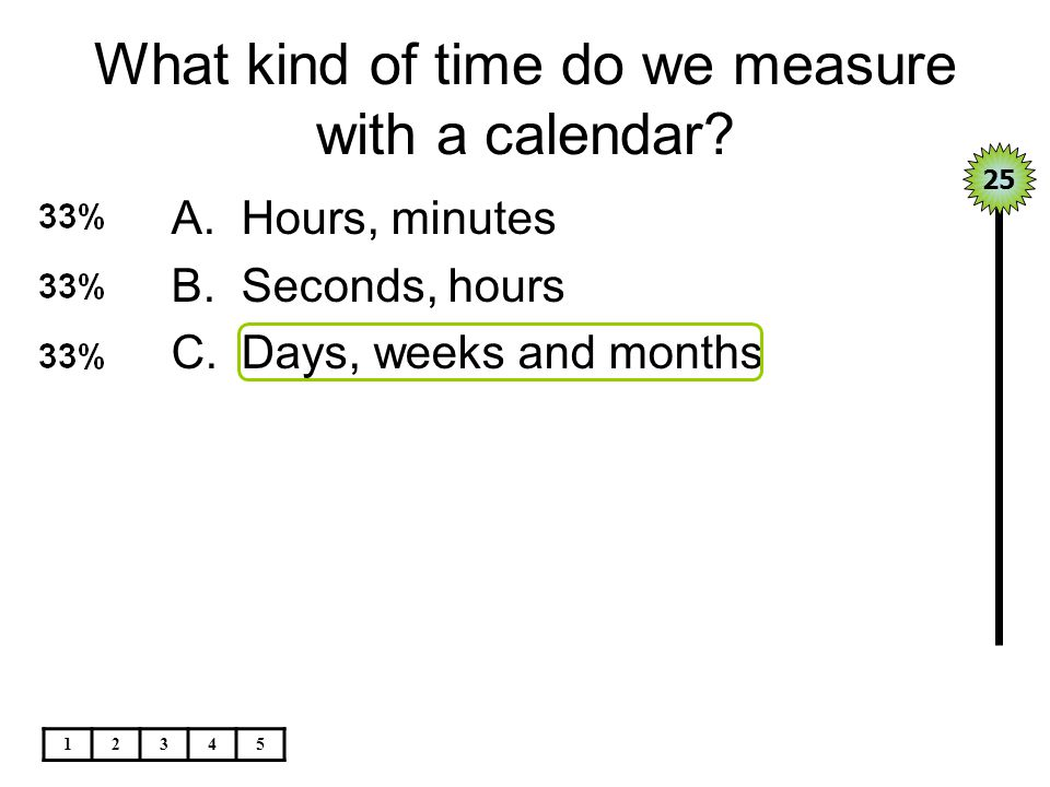 What kind of time do we measure with a calendar