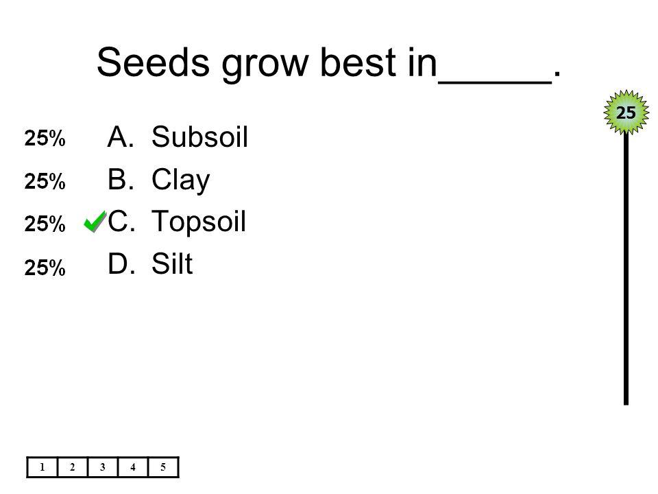 Seeds grow best in_____.