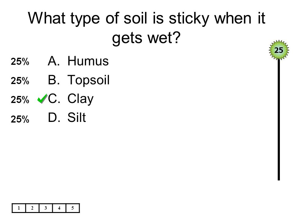 What type of soil is sticky when it gets wet