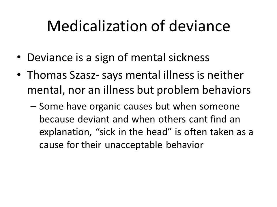 Medicalization of deviance
