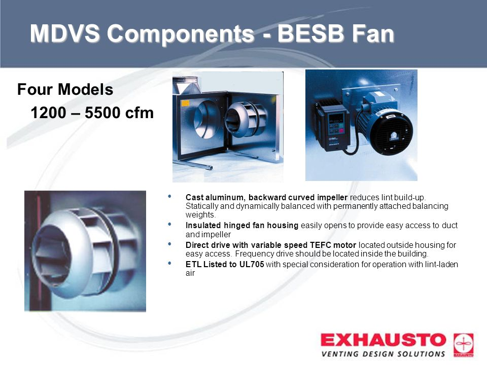 MDVS Components - BESB Fan