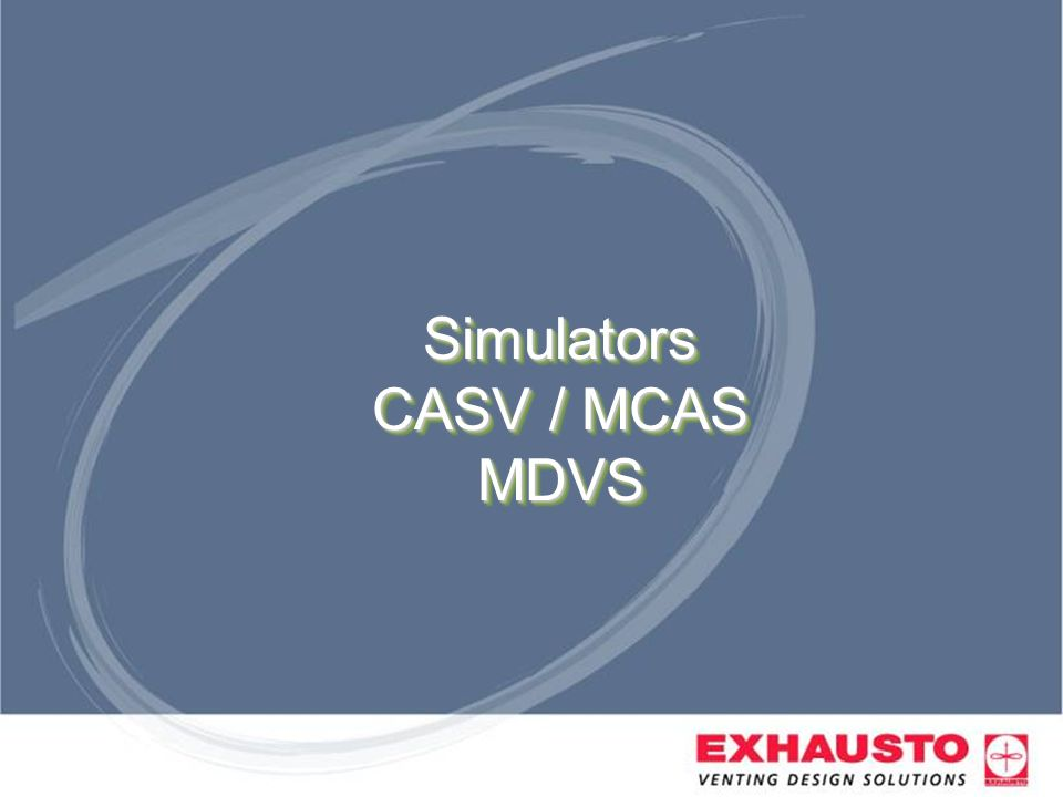 Simulators CASV / MCAS MDVS