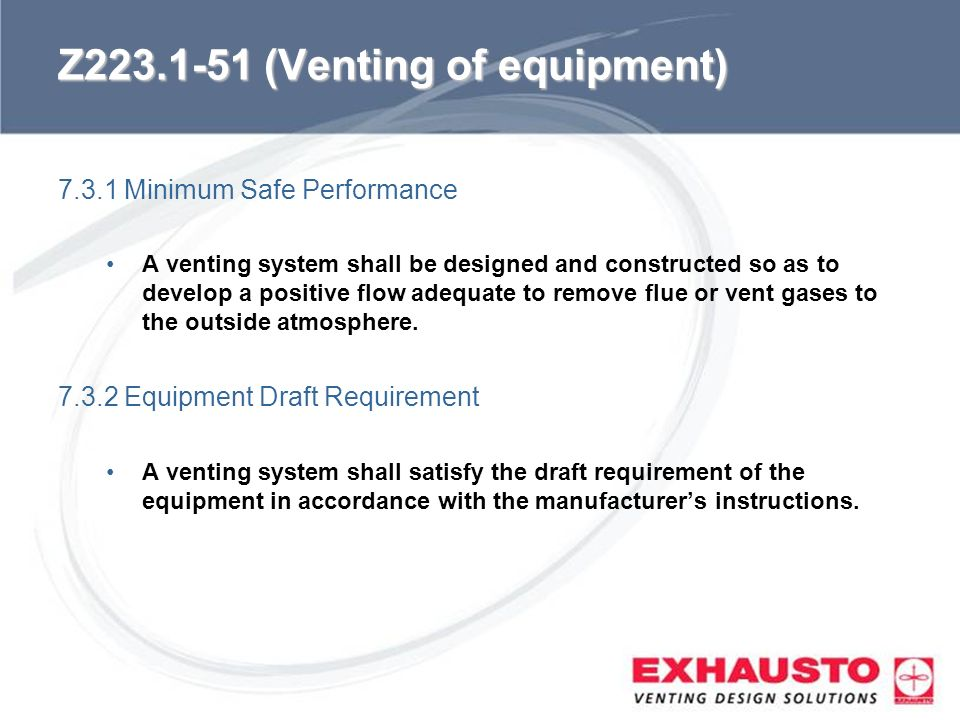Z (Venting of equipment)