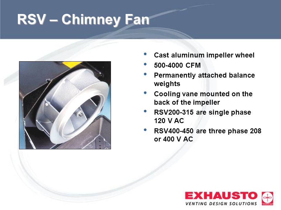 RSV – Chimney Fan Cast aluminum impeller wheel 500-4000 CFM