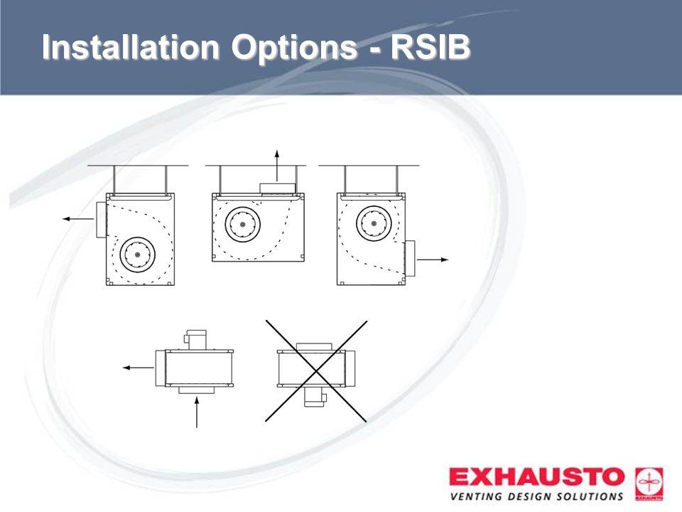 Installation Options - RSIB