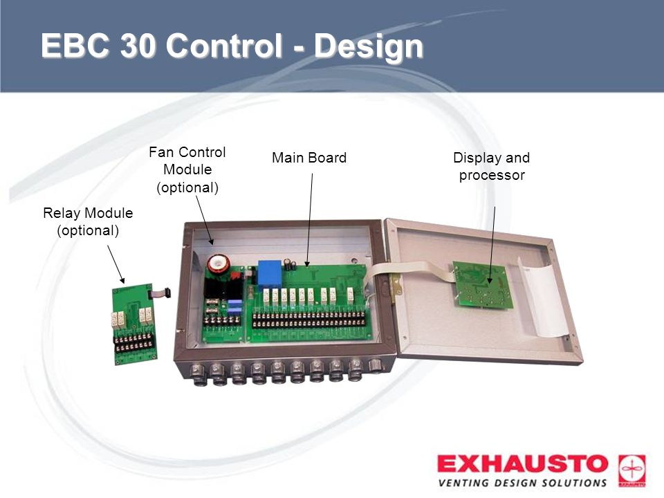 EBC 30 Control - Design Fan Control Module (optional) Main Board