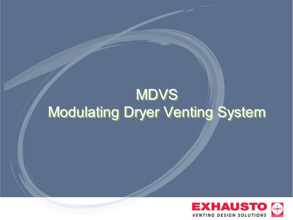 MDVS Modulating Dryer Venting System