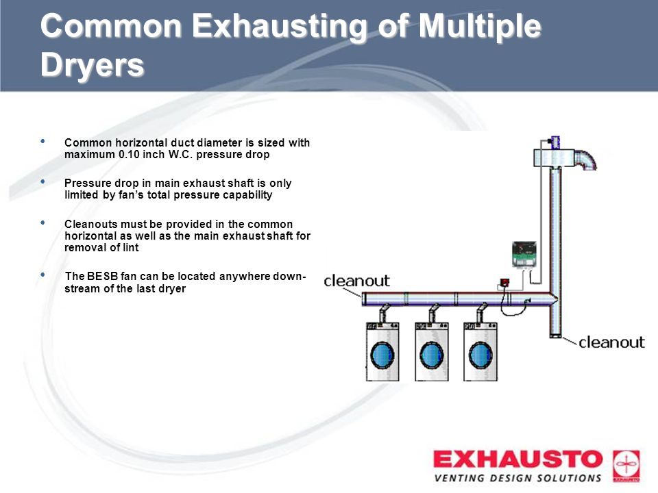 Common Exhausting of Multiple Dryers