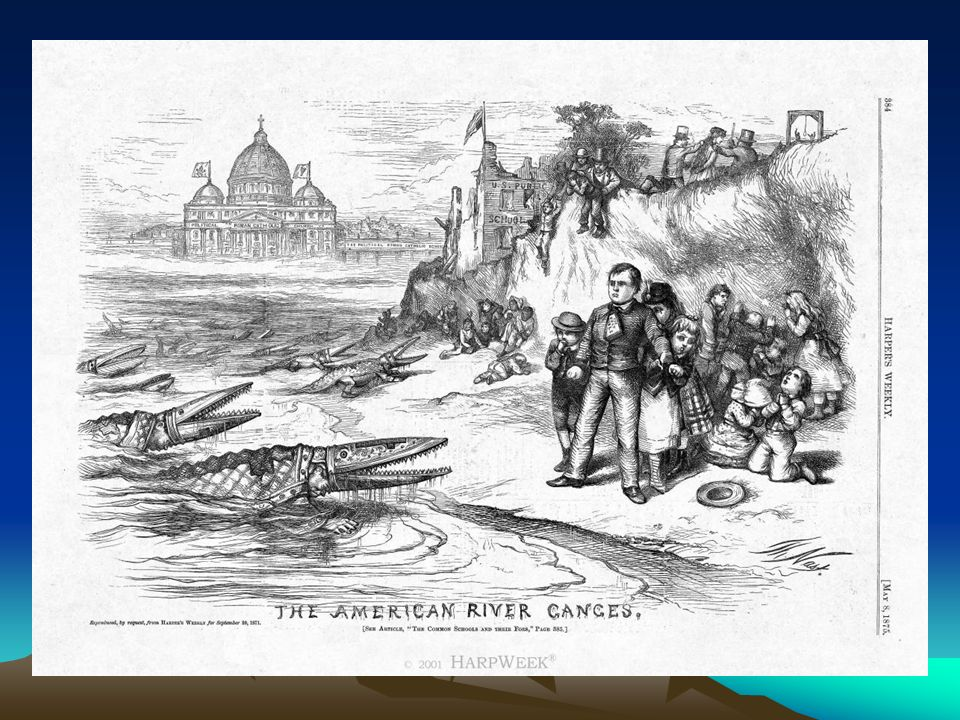 homas Nast s The American River Ganges appeared in the May 8, 1875 issue of Harper s Weekly.