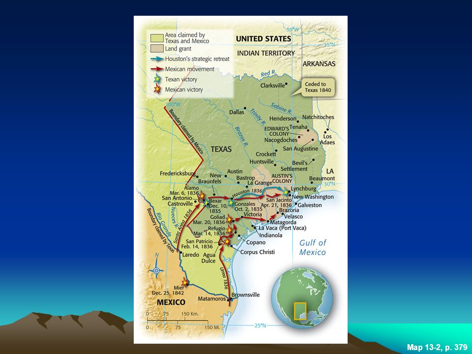 Immigration Expansion And Sectional Conflict Ppt Download - Battle of san jacinto map us