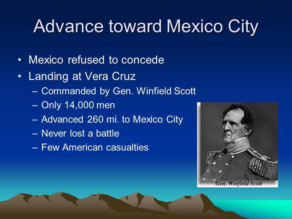 Advance toward Mexico City