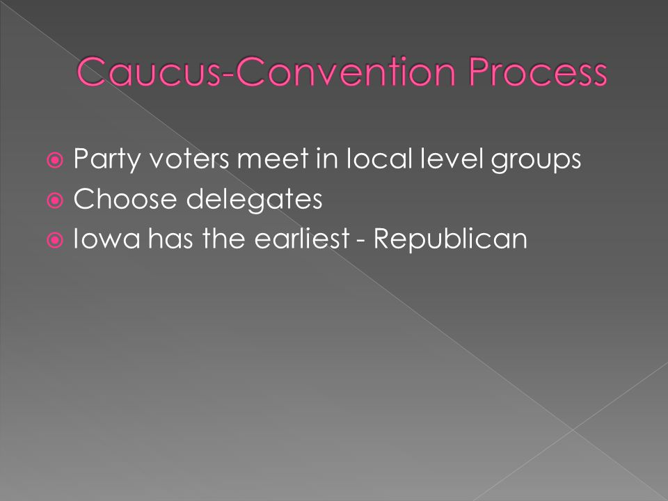 Caucus-Convention Process