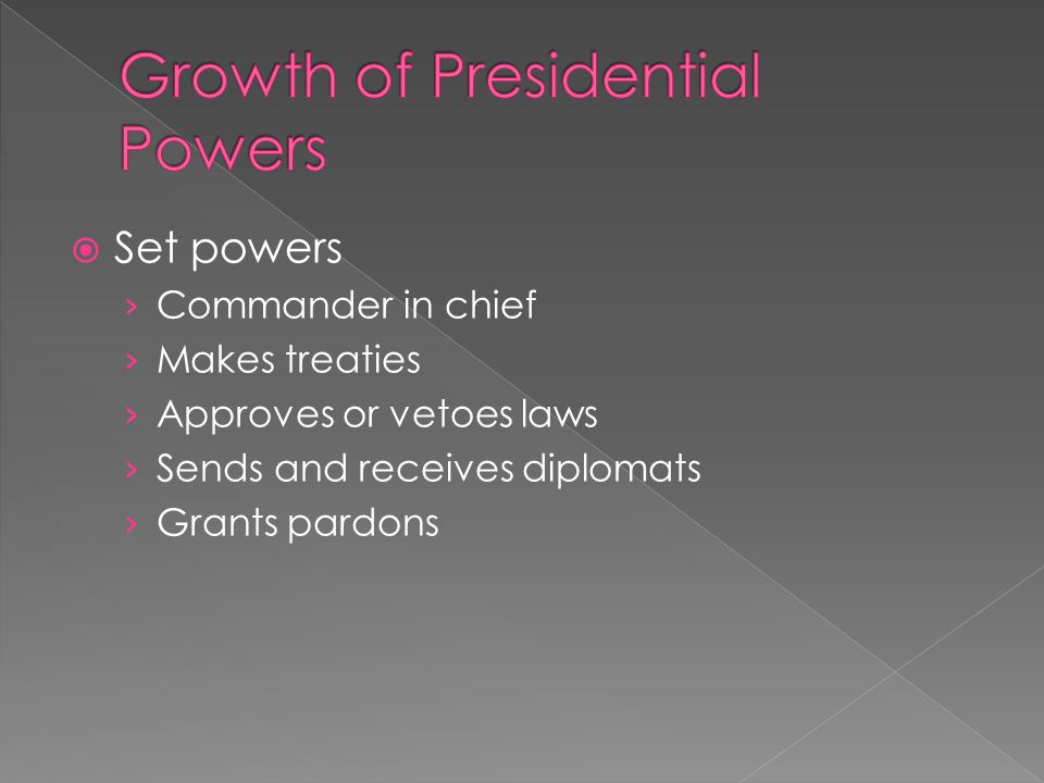 Growth of Presidential Powers