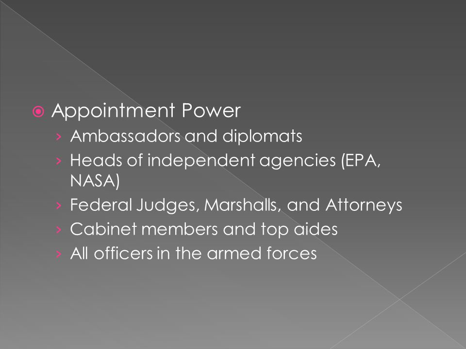 Appointment Power Ambassadors and diplomats