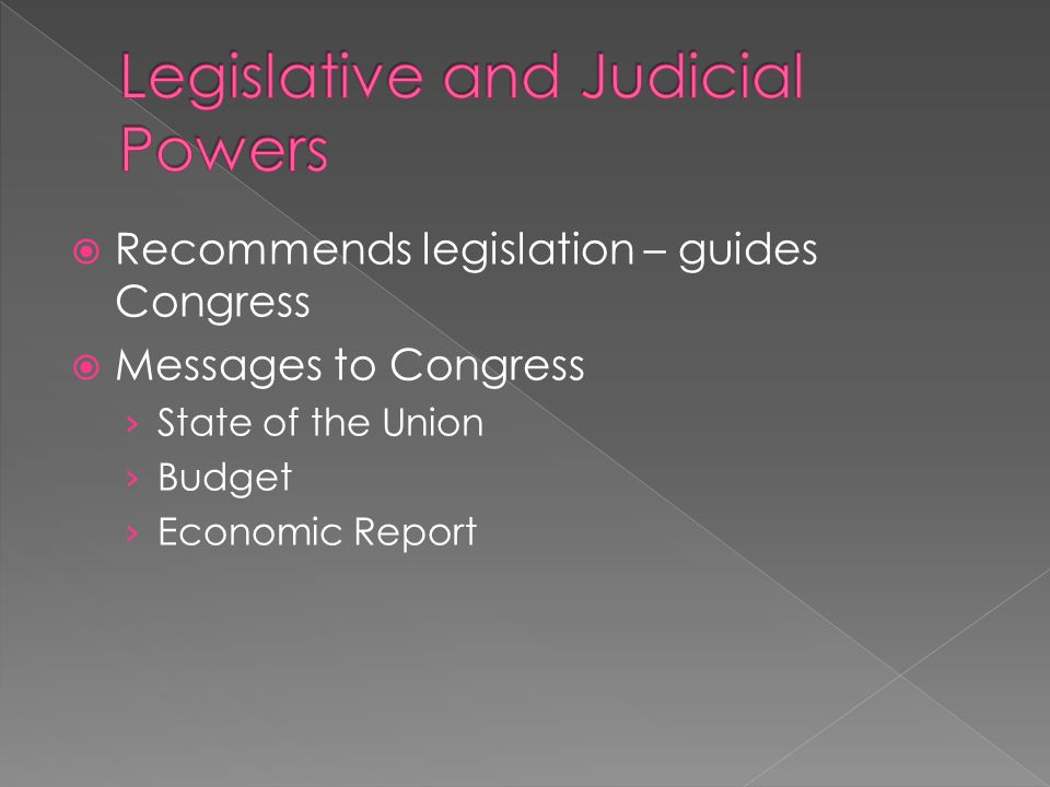 Legislative and Judicial Powers