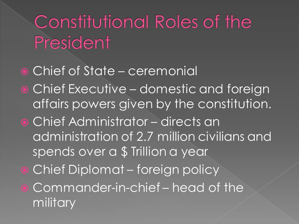 Constitutional Roles of the President