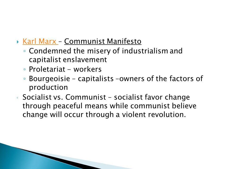 Karl Marx – Communist Manifesto