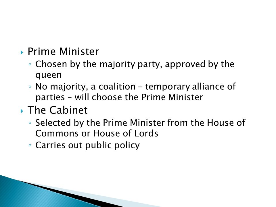Prime Minister The Cabinet