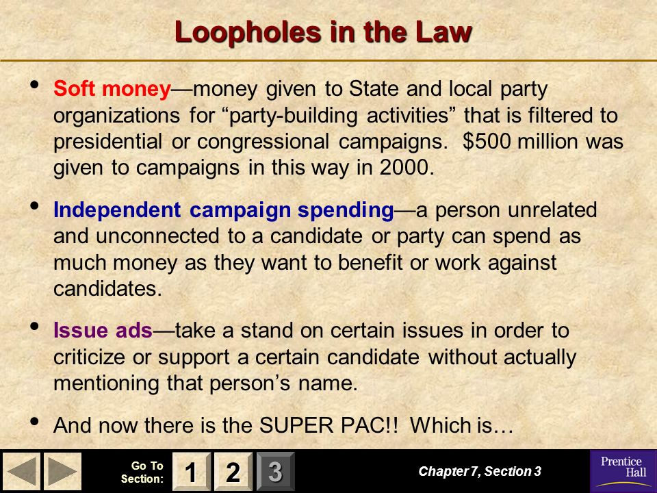 Loopholes in the Law