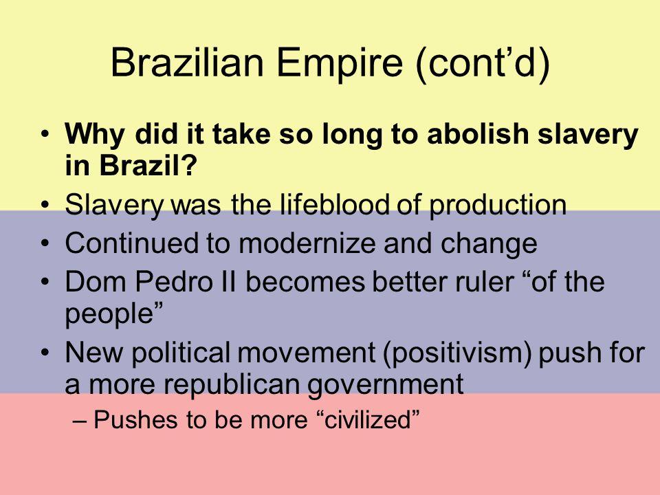 Brazilian Empire (cont'd)