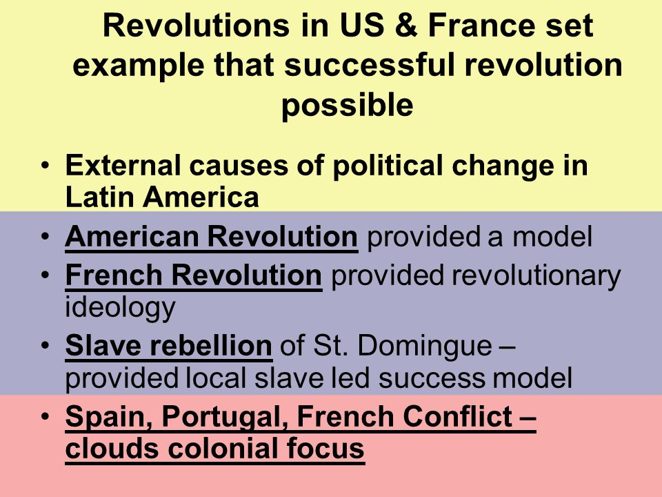 Revolutions in US & France set example that successful revolution possible