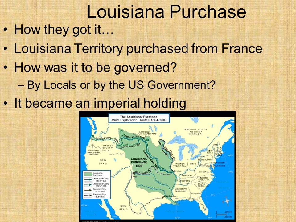 Louisiana Purchase How they got it…