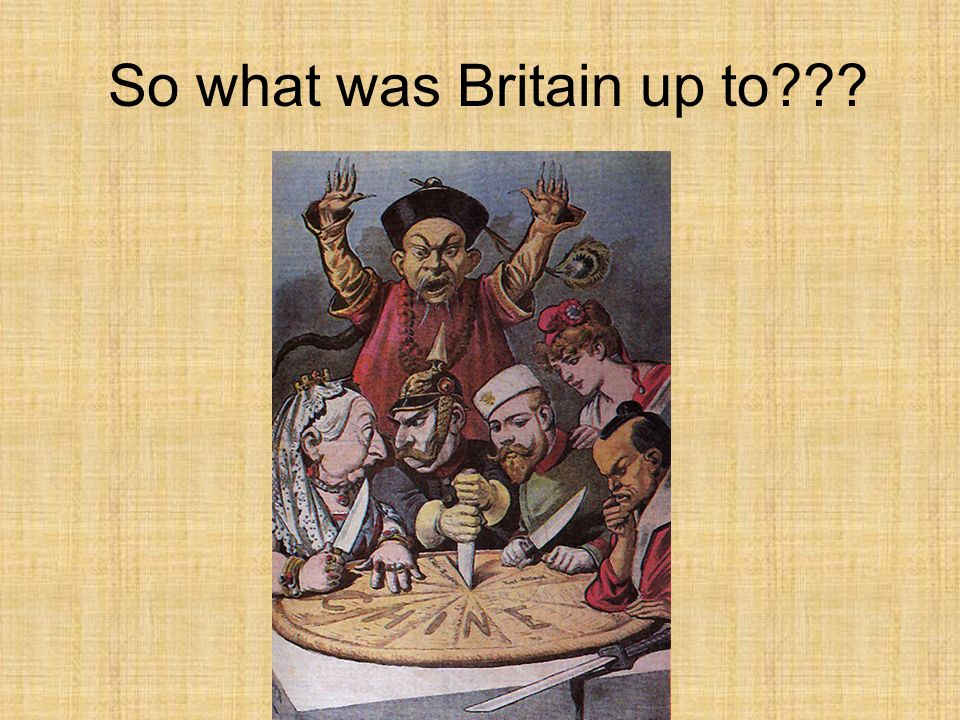 So what was Britain up to
