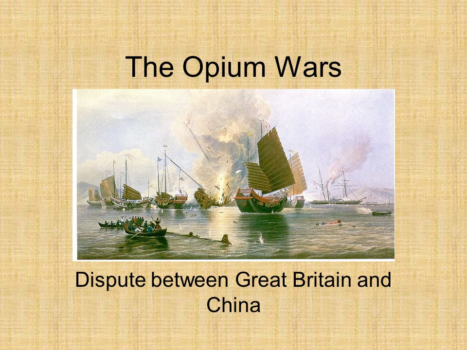 Dispute between Great Britain and China
