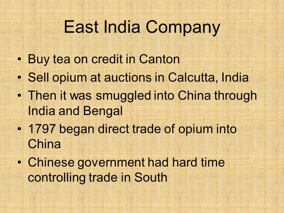 East India Company Buy tea on credit in Canton