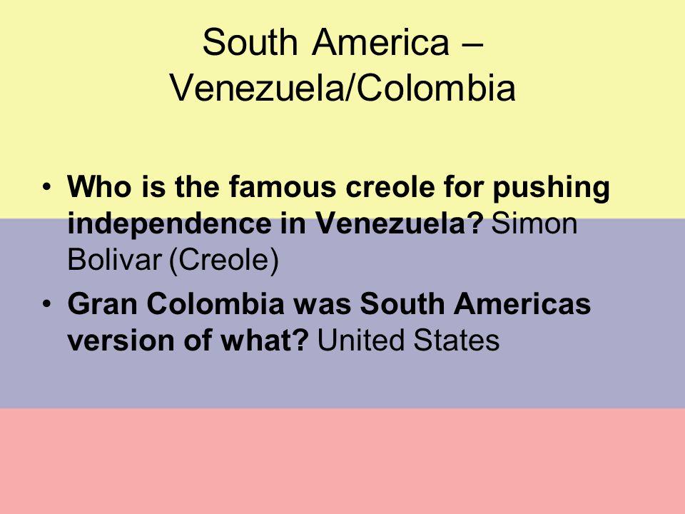 South America – Venezuela/Colombia