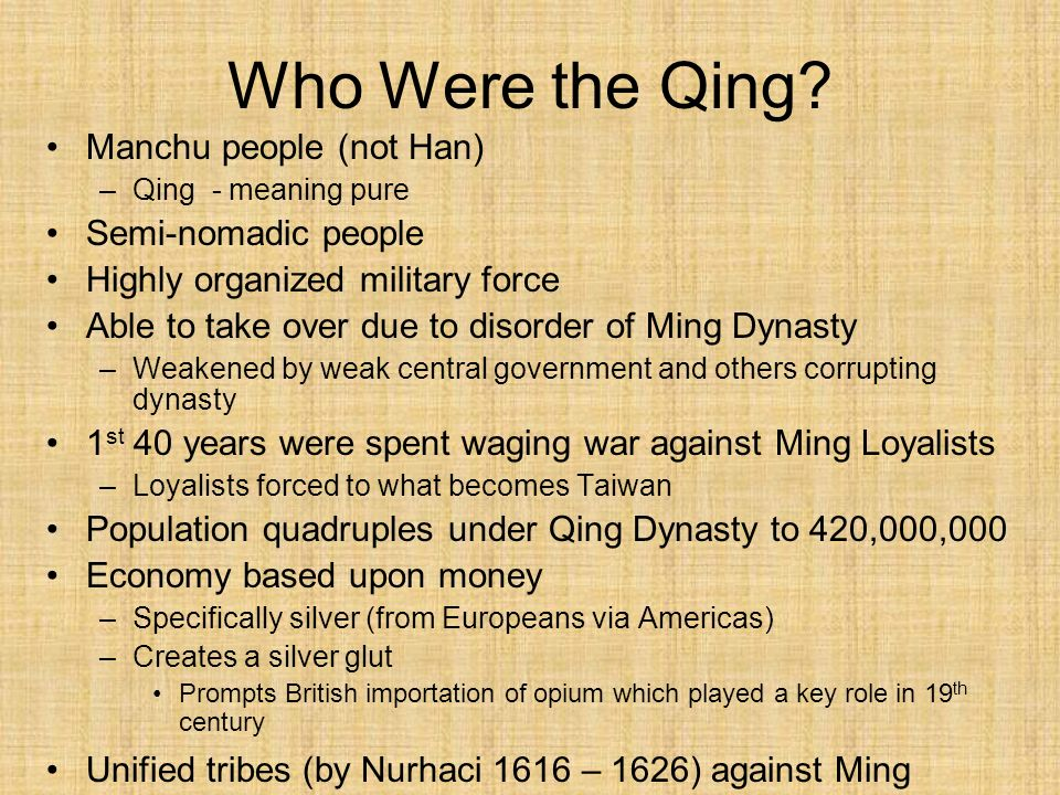 Who Were the Qing Manchu people (not Han) Semi-nomadic people