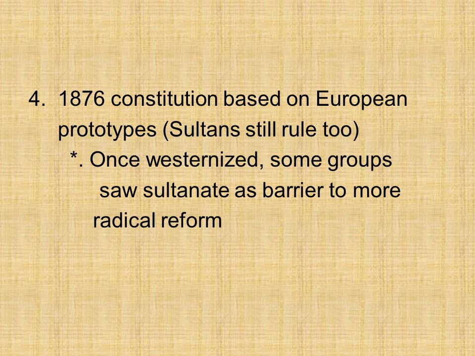 constitution based on European