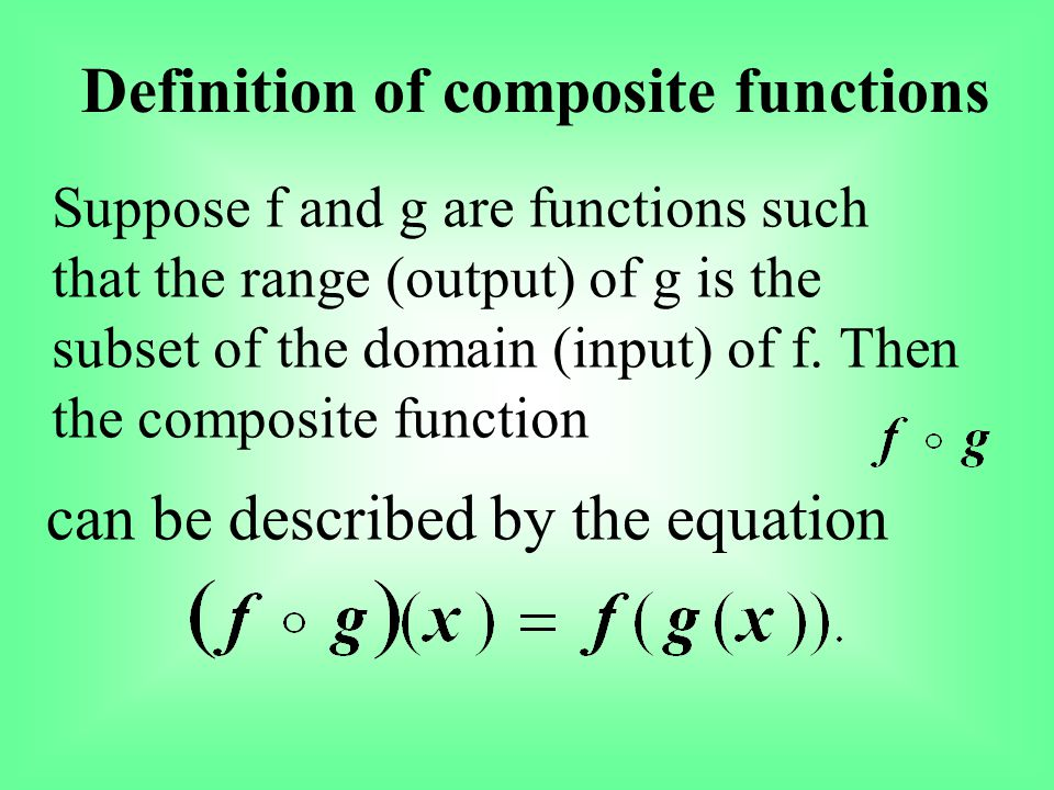 Definition of composite functions
