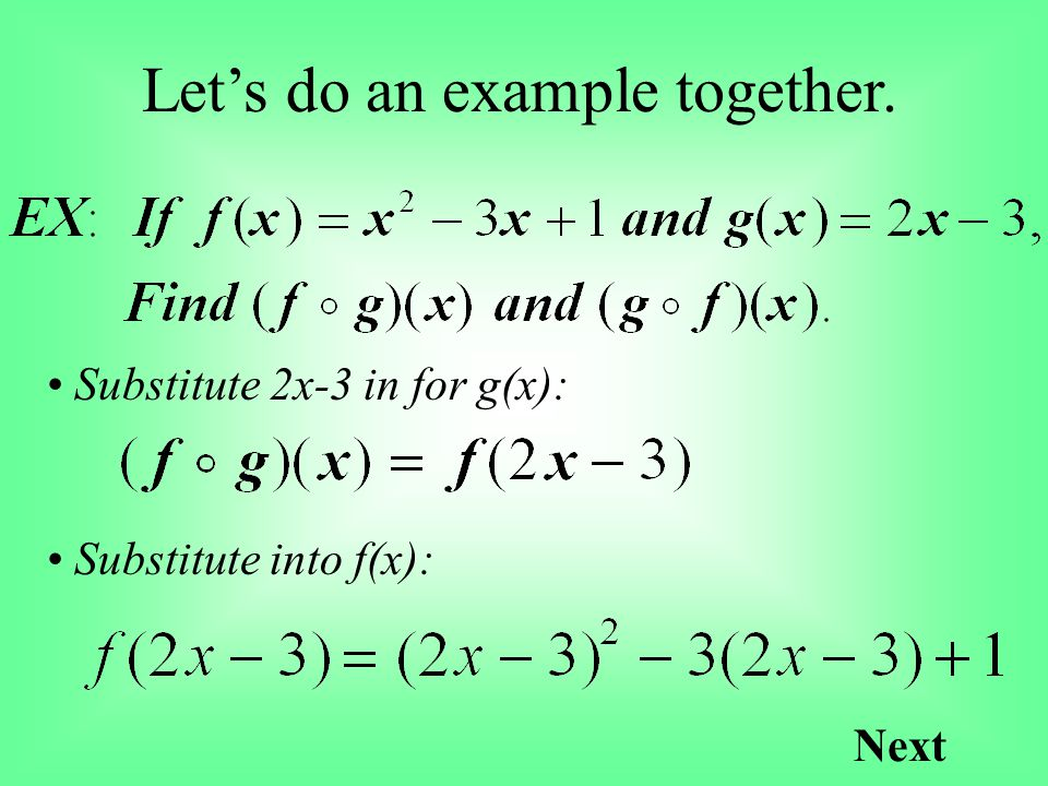 Let's do an example together.