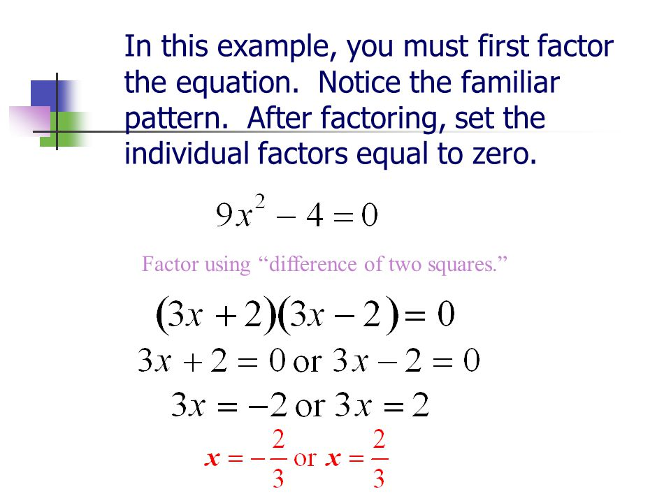 Factor using difference of two squares.