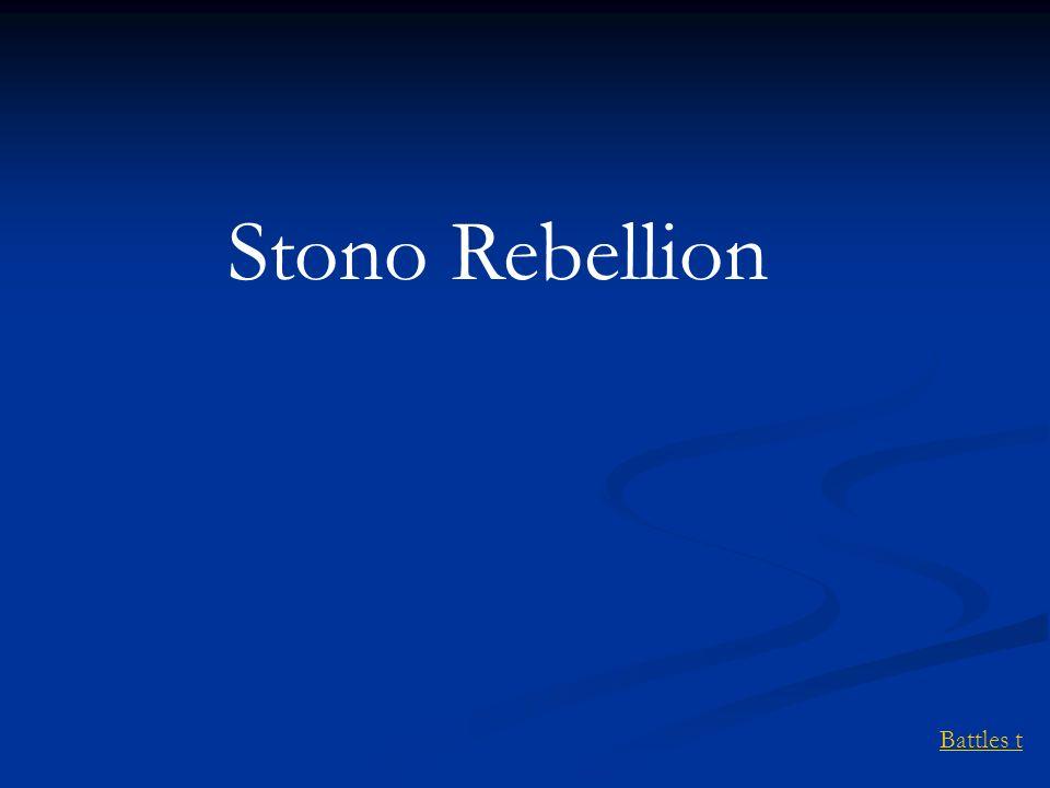 Stono Rebellion Battles t