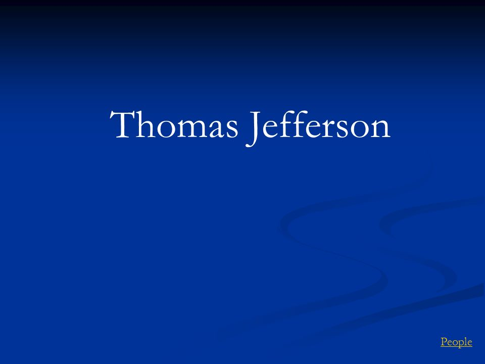 Thomas Jefferson People