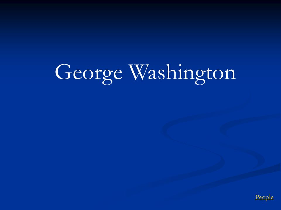 George Washington People