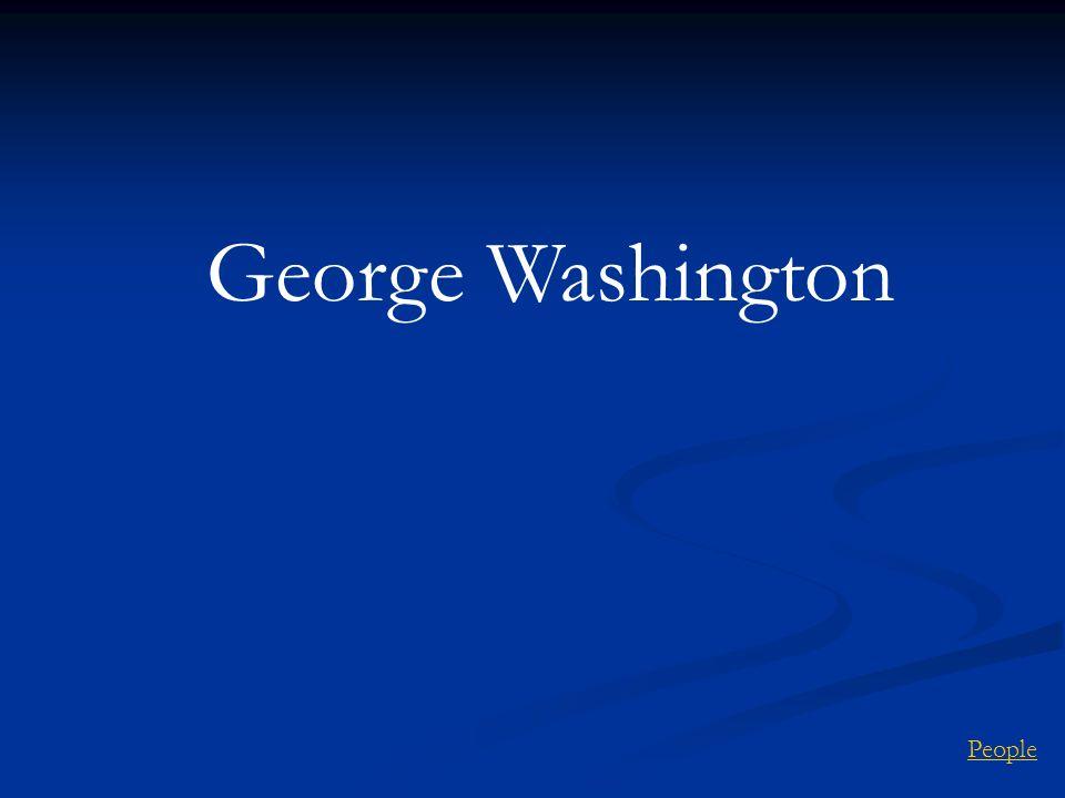 George Washington People