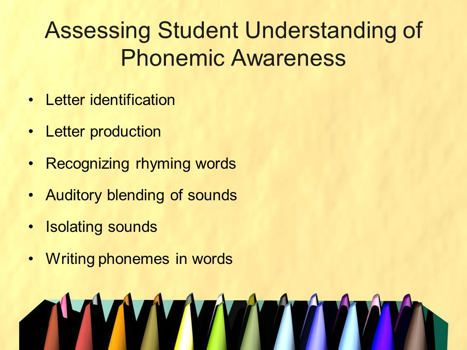 Assessing Student Understanding of Phonemic Awareness