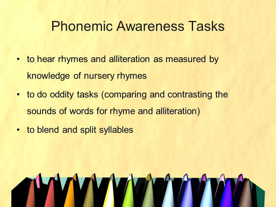 Phonemic Awareness Tasks